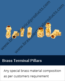 brass terminal pillars